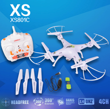 KF XS801C 2.4G 6-Axis RC Drone RC Quadcopter with 2MP HD Camera Headless RTF Headless Mode quadcopter vs X5sw x5hw x8hw