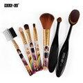 Mini Tamaño 7 Unids/set Pinceles de Maquillaje Set de Oro Linda Chica Mango Mujeres Belleza Cosmética Kit de Pestañas Lip Brush Sombra de Ojos Se Ruboriza herramientas