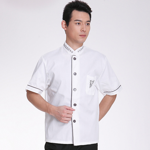 Arbeitskleidung Küche | Sommer Kurzarm Koche Uniform Atmungs Chef Shirt Backer Uniform