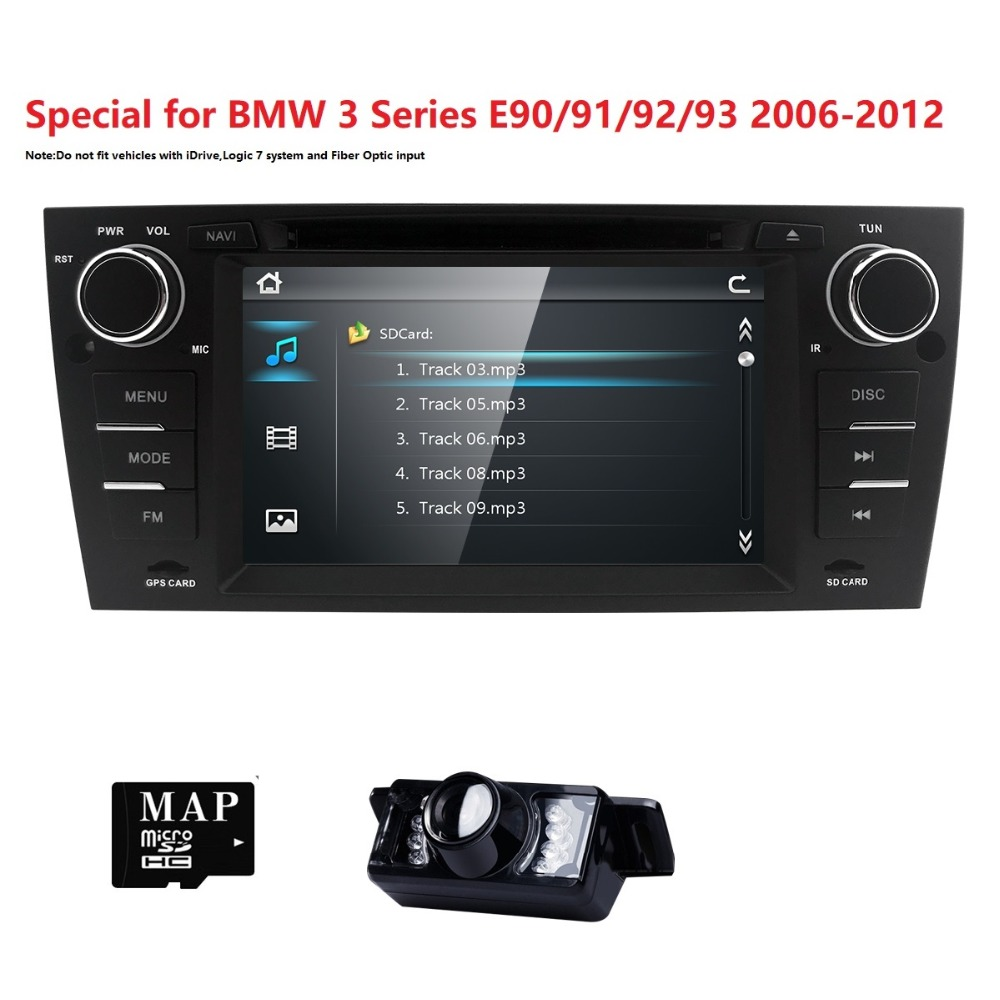 7 wince car monitor dvd multimedia for bmw e90 with gps 7 wince car monitor dvd multimedia for bmw e90 with gps navigation rds 3g subwoofer swc bluetooth dvr dabdvb t free map camera in car multimedia player fandeluxe Gallery