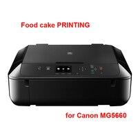 Stampante inchiostro commestibile per cake torta Digitale stampante/foto/immagine/pattern/food cake macchina per Canon 5660 Per canon cartuccia 560