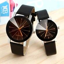 Famous Brand Black Classic Color A pair Couple Watch Women Men Fashion Clock