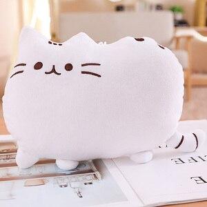 Image 2 - 25cm Pushin Cat zabawki miękkie zabawki wypchane kocięta wypchane zwierzę i pluszowe zabawki słodki kociak poduszka dla dzieci prezent dla dziecka dziewczynki Push Een zabawki