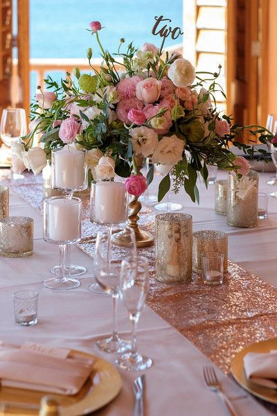 4pcs Pack 30 275cm 180cm High Grade Rose Gold Sequin Table Runner Wedding Sparkly Bling Party Decoration In Runners From Home Garden On