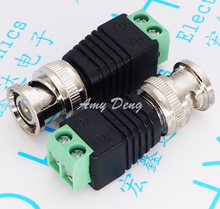 100pcs/lot  joint green joint monitoring joint camera connector BNC free welding BNC head adapter