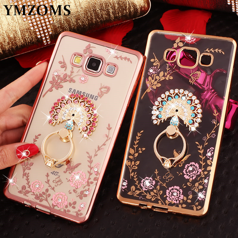 Diamond-Case Finger-Ring Kitty ON7 Bling J5-Prime Samsung J7 Peacock-Holder For Neo J3