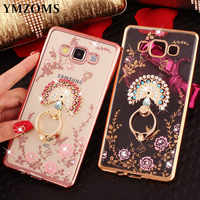 Bling Diamond Case For Samsung J7 Neo J5 Prime J3 2017 J2Pro 2018 A51 C5 C7 C8 C9 Pro Finger Ring Peacock Holder Phone Case