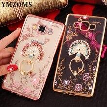 Bling Diamond Case For Samsung J Neo J Prime J  C C Pro C On Finger Ring Kitty Peacock Holder Phone Case