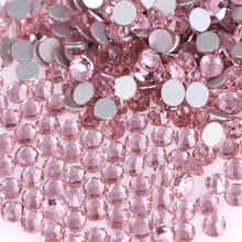 SS3 1.3-1.4mm Lt.Pink Color Nail Art Stones Flatback Non HotFix Rhinestones Need Glue On For DIY Nails Decorations
