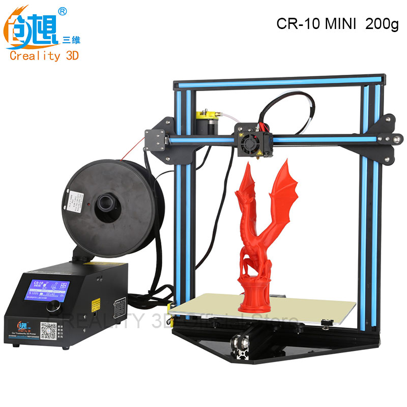 Cheap 3D Printer CREALITY 3D CR-10 MINI Large Print Size 300*220*300mm 3D Printer DIY Kit Heated Bed+Glass Plate+Free Filaments creality cheap ender 2 3d printer kit fdm 3d printer diy kit aluminium frame with heated bed cost effective in high quality