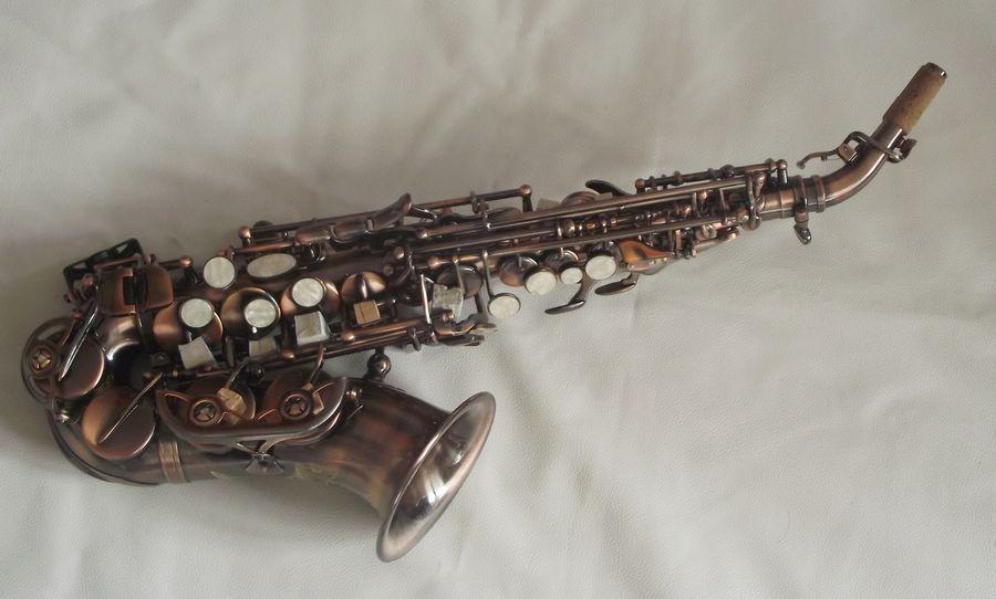 Продвинутый Античный сопрано саксофон изогнутый сопрано sax