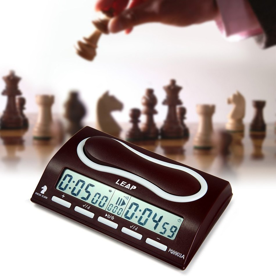 LEAP PQ9903A Multifuctional Digitale Schach Uhr <font><b>Wei</b></font> Chi Count Up Down Schach Alarm Timer Reloj Ajedrez Temporizador Spiel Timer image