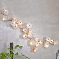 LED Copper Wall Sconce Lamp Brass Wall Light Copper Wall Lighting Foyer Lighting for Home Hotel Living Dining Room Decoration