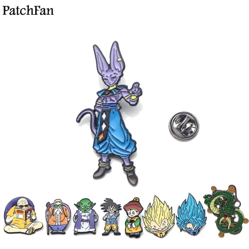 20pcs/lot Patchfan Dragon Ball Beerus Cat Zinc Tie Cartoon Pins Backpack Clothes Brooches For Men Women Hat Badges Medals A1379 Arts,crafts & Sewing