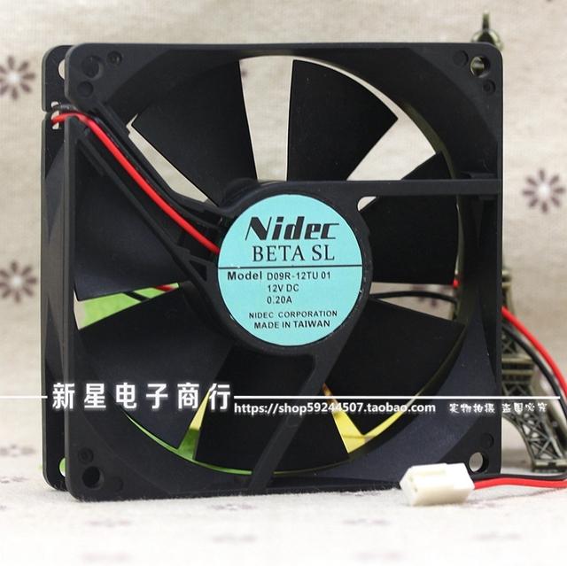 Original D09R-12TU 9 CM 01 0.20A 12 V 9025 ordenador ventilador de refrigeración del gabinete