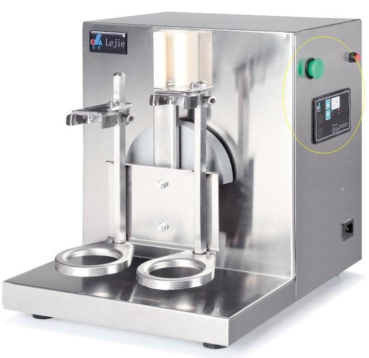JKL naujas 2017 metų karštas išpardavimas 220V AUTO Nerūdijančio plieno pieno kokteilio virimo aparatas dvigubas slankiklis Blenderio pieno maišytuvas