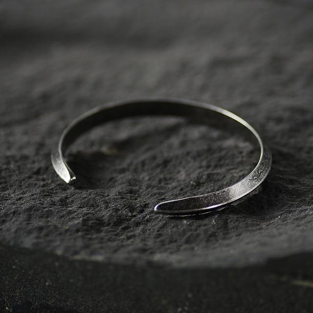 Bracelet rétro Viking titane et acier 3