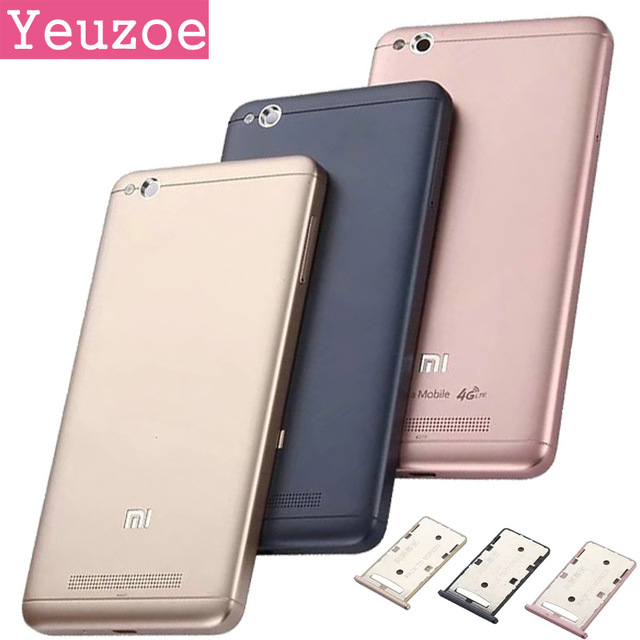 For Xiaomi Redmi 4A Battery Case Durable Protective Back Case Replacement With SIM Card Tray For Xiaomi Redmi 4 A battery cover