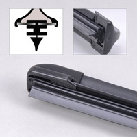 2PCS High Quality 26 18 Frameless Bracketless Steel Rubber Rain Window Windshield Wiper Blade For BMW