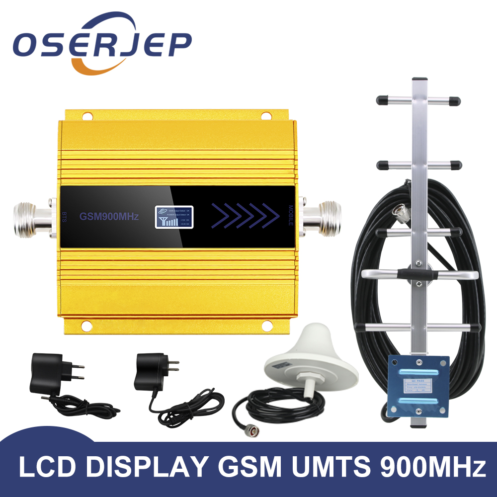 led display GSM 900 Mhz repeater celular MOBILE PHONE Signal Repeater booster 900MHz GSM amplifier Yagi