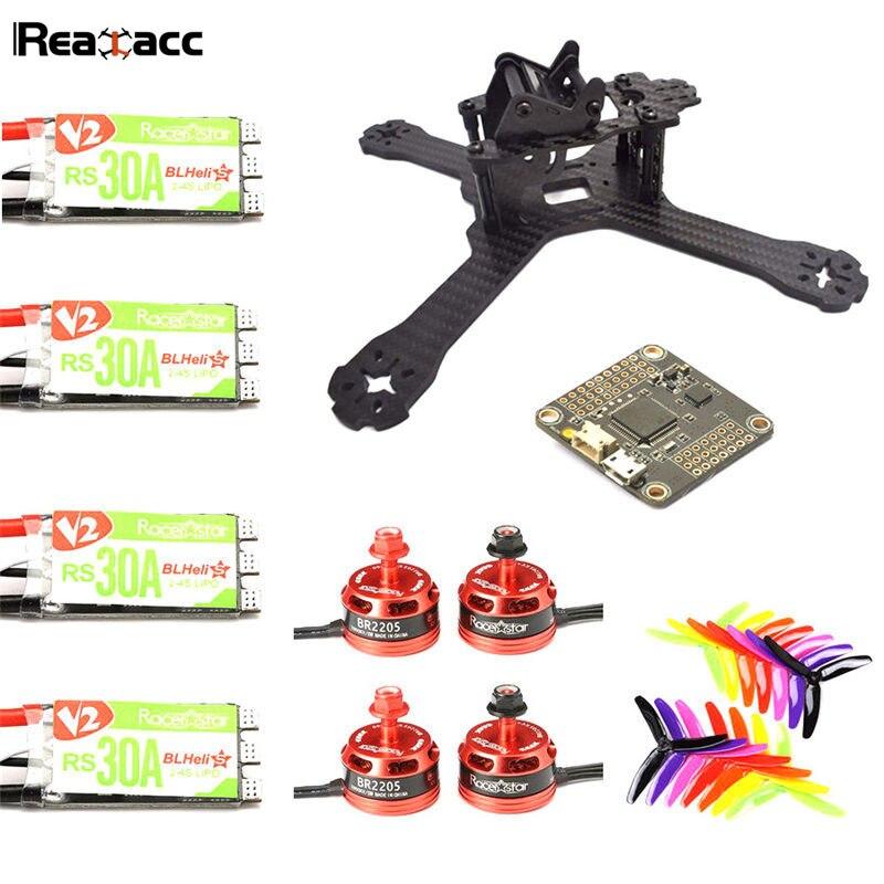 Original Realacc X210 V+ CC3D REVO F4 Racerstar BR2205 2600KV Motor RS30A Blheli_S ESC 5X4X3 Propeller Set For RC Quadcopter цена и фото