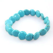 Europe Style Fashion Men and Women Bracelet 12MM Round Blue Pine Laminate Bracelets Hot Selling Female Bracelet Pulsera De Mujer(China)
