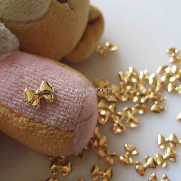 MD-578 10pcs Fancy Gold Bow Deco Metal Charms Metal Deco Charms Nail Art кувалда truper md 6f 19884