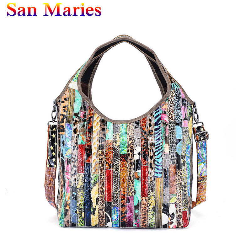 San Maries Casual Ladies High Quality Handbags Totes Women Snake Pattern Handbags Fashion Ladies Messenger Shoulder Bags 2019