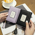 2017 Fashion Women Short Wallets Ladies Tassel Small Wallet Women Fring Card Holder Pouch Cute Girl Female Wallet Purses