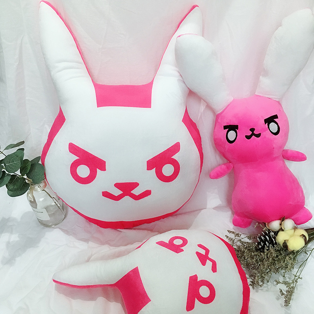 1PC Overwatches Pink Dva Rabbit Plush Pillow Toys OW Game Over Watch Soft DVA Pillow Cosplay Cushions Kids Toys Gifts