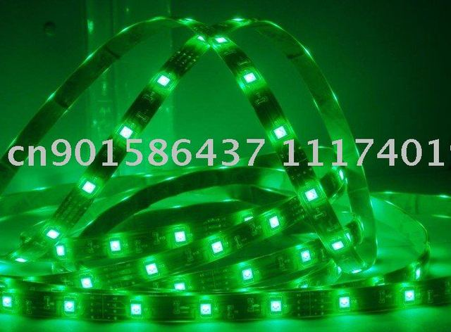 90% power saving 5 meter greenSMD LED 5050 Waterproof 150pcs LEDs Strip+12v 5a Power