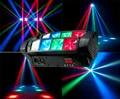 Free shipping mini stage led spider 8x6w rgbw moving head light dj party ktv  light