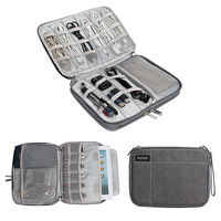Digital Storage Case Bag Single Double Layer Storage Bags Cable Flash Drives Earphone Travel Box Cases