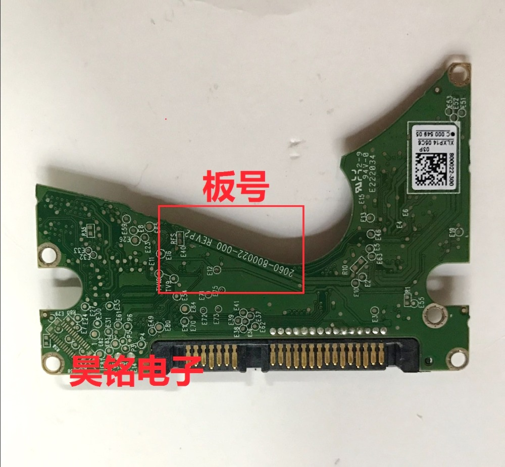 Hdd Pcb Logic Board Printed Circuit 2060 800022 000 Rev P2 For Wd 25 Sata Hard Drive Repair Data Recovery In Video Tv Tuner Cards From Computer