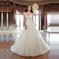 Vestido De Noiva Robe De Mariage Beading Lace A Line Wedding Dress 2017 Bridal Dress 3399218 Plus Size 6-22w Custom Size & Color