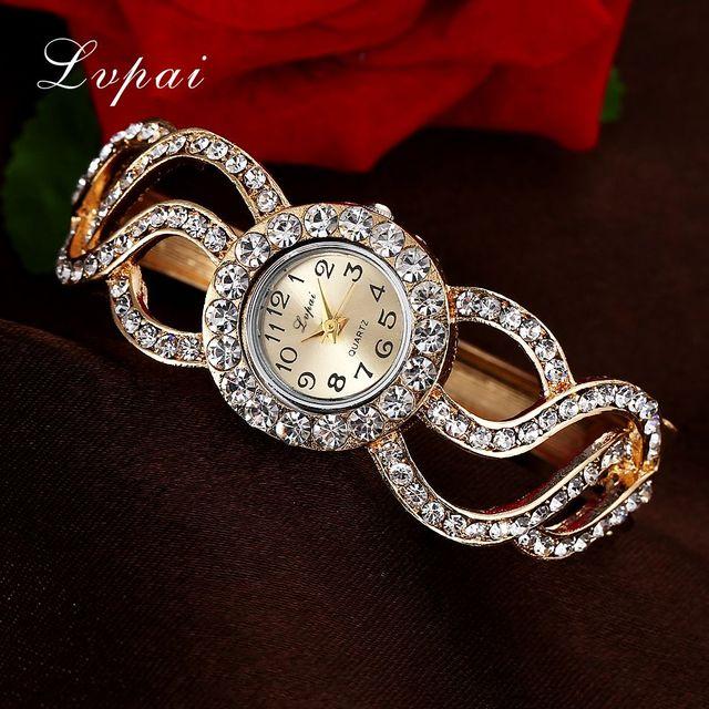 Lvpai Women Watches 2018 Rhinestone Bracelet Wristwatches Fashion Classic Ladies