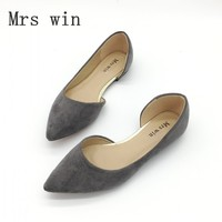 2017 Newest Women S Basic Flats Shoes Spring Autumn Pointed Toe Shallow Ballet Flats Shoes For