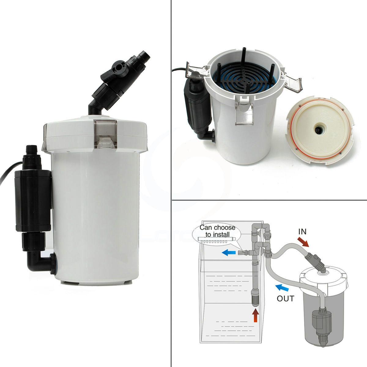 Aquarium fish tank external filter ef 1 1000l h - Sunsun Brand New 6w Aquarium Fish Tank External Canister Filter Table Top Hw 602b Hw