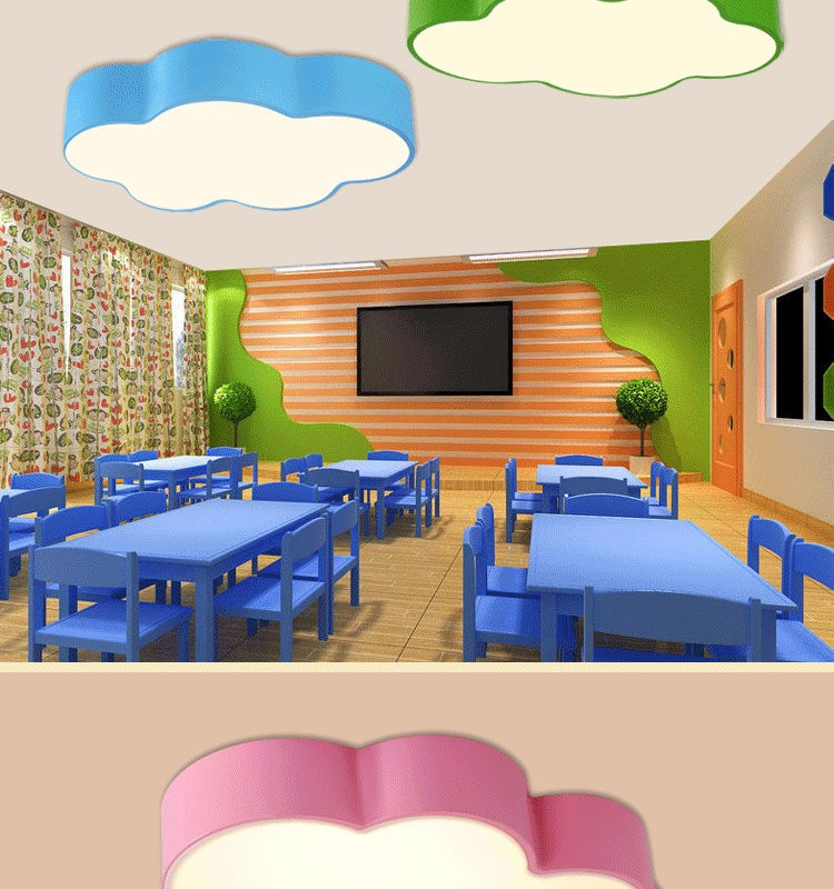 LED Cloud kids room lighting children ceiling lamp Baby ceiling light with yellow blue red white color for boys girls bedroom fixtures_03