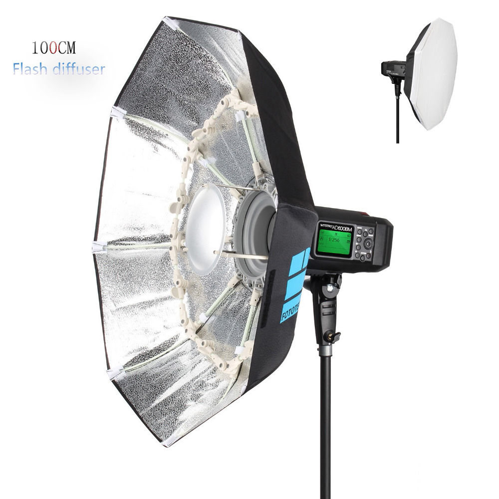 Flash Diffuser 40 100CM Foldable Portable Folding Beauty Dish Silver With Bowens Mount Reflectors For Photography EACHSHOT ashanks 55cm 22 studio silver beauty dish bowens mount honeycomb grid diffuser sock