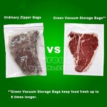 (3 Rolls/ Lot ) 20cm x 500cm Fresh-keeping bag of vacuum sealer food storage bags packaging film keep fresh up to 6x longer