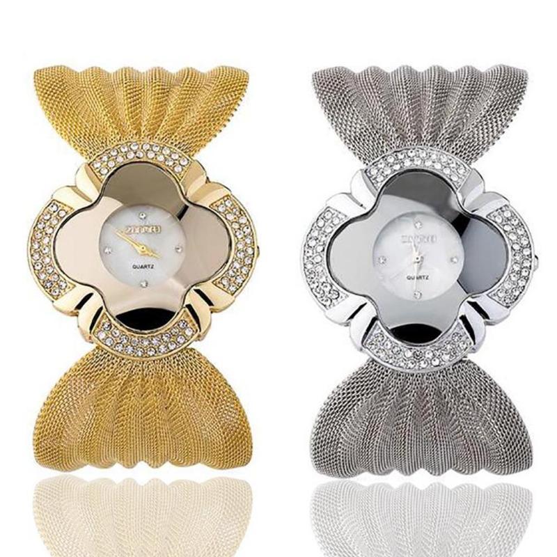 1pc Women Watch Luxury brand Crystal Rhinestone Bracelet Quartz Ladies Wristwatch Bling Watch wrist clocks fashion