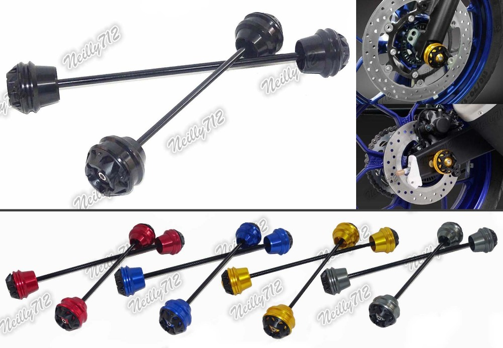Motorcycle Front & Rear Wheel Fork Axle Sliders Cap Crash Protector For Yamaha YZF R3 R25 MT-03 2014 2015 2016