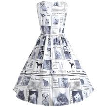 Sleeveless Vintage Women's O-Neck Dress