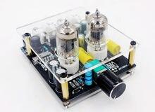 Dc 12v 6j1 tubo de vácuo amplificador pré-amplificador febre alta fidelidade bile preamp placa com caso