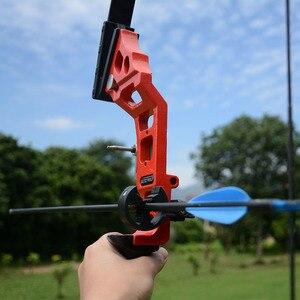 Image 4 - Profissional arco recurvo tiro com arco 40lbs poderosa caça arco terno para a prática de tiro ao ar livre setas acessórios