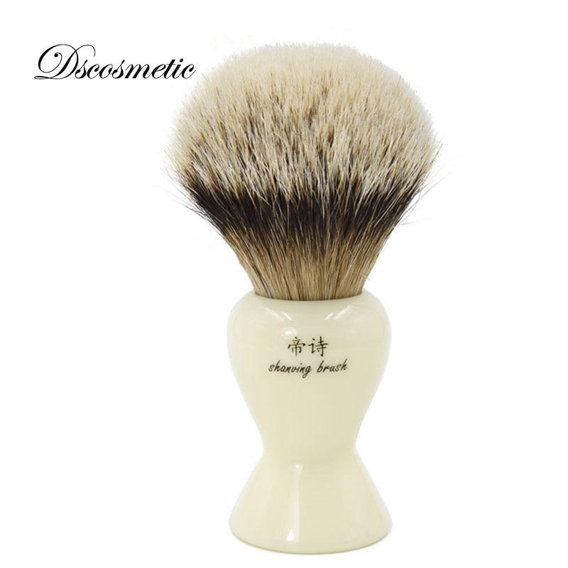 Velká hole na holení kartáč 28mm silvertip badger štětec na holení pro muže kvalitní ručně šitý kartáček na holení pánská kadeřnická sada