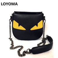 2016 New Small Monster Single Shoulder Bag Handbag Chain Bag Bag Korean Mobile Phone Small Demon