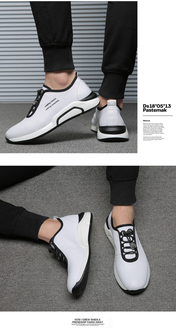 Spring Autumn Men Casual shoes Genuine leather Breathable Male Sneakers Lace-Up Flats Sport shoes zapatos de hombre 02A 9