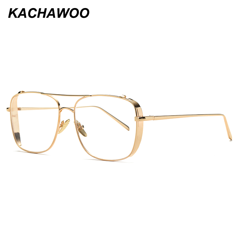 21e34d7a444 Detail Feedback Questions about Kachawoo square eyeglasses frames men high  quality silver gold metal glasses frame women accessories oculos de grau  feminino ...
